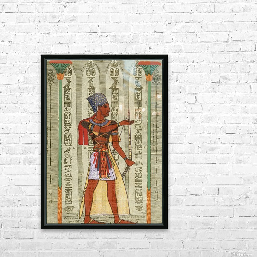 egyptian design man royal  HD Sublimation Metal print with Decorating Float Frame (BOX)