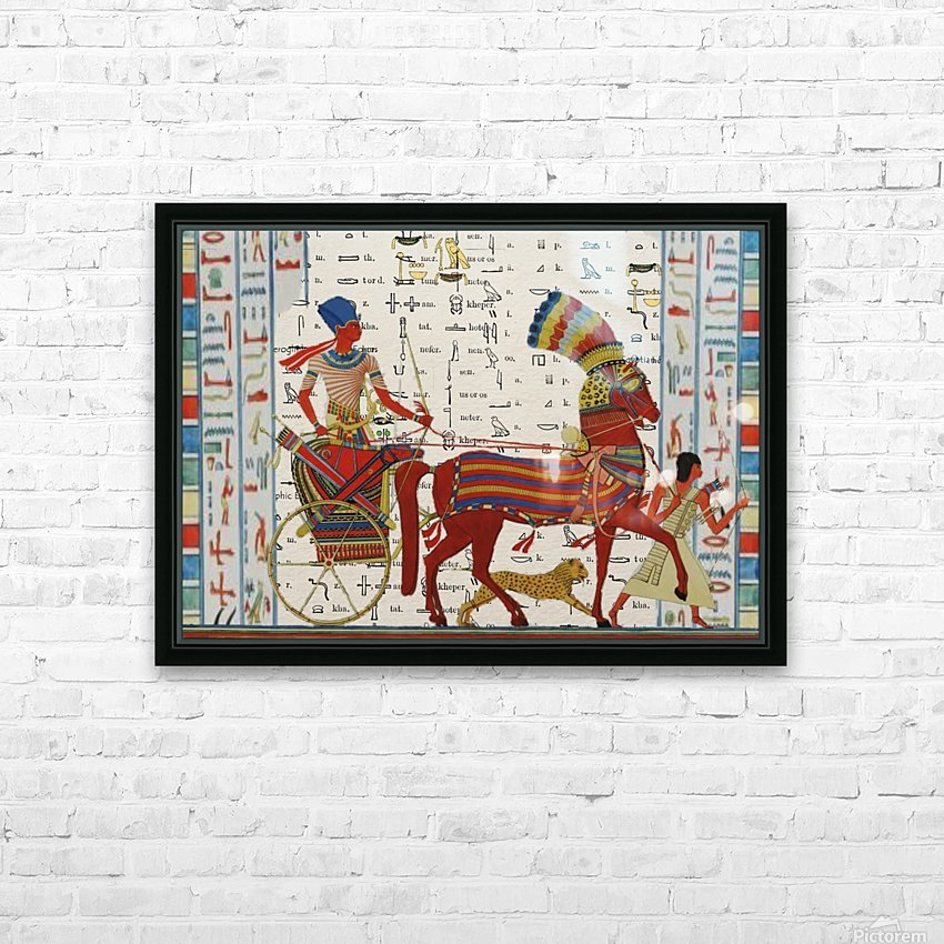 egyptian tutunkhamun pharaoh design  HD Sublimation Metal print with Decorating Float Frame (BOX)