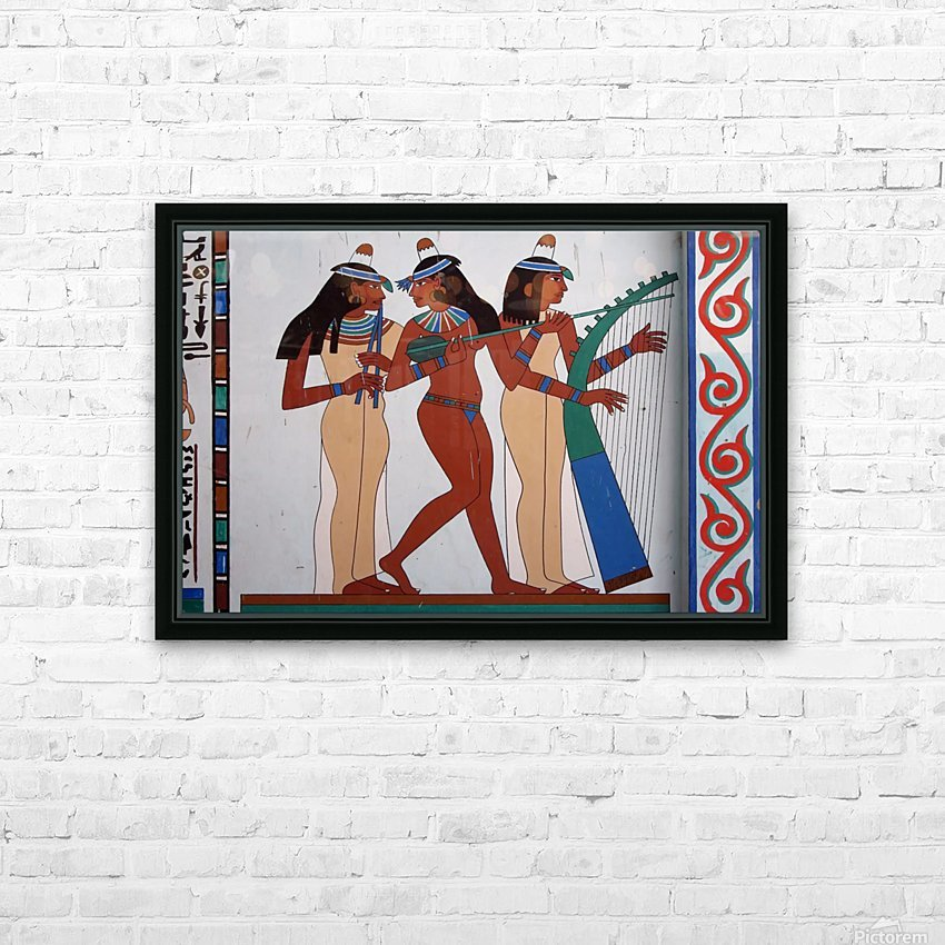 egypt fresco mural decoration HD Sublimation Metal print with Decorating Float Frame (BOX)