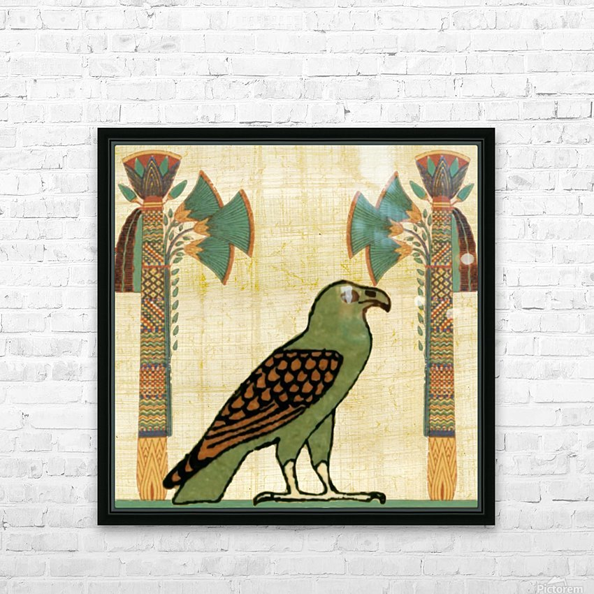 egyptian paper papyrus bird HD Sublimation Metal print with Decorating Float Frame (BOX)