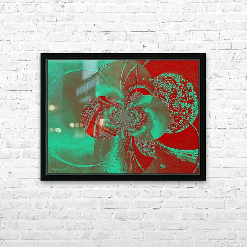 Emerald and Red Circular Patterns HD Sublimation Metal print with Decorating Float Frame (BOX)