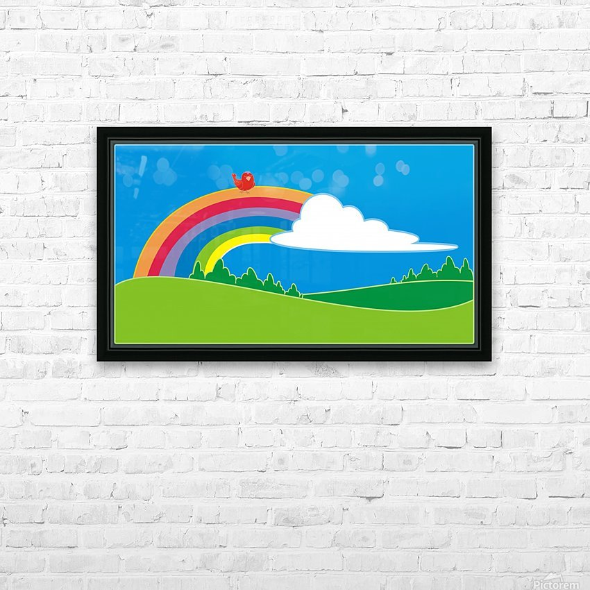 natural cloud field grass HD Sublimation Metal print with Decorating Float Frame (BOX)
