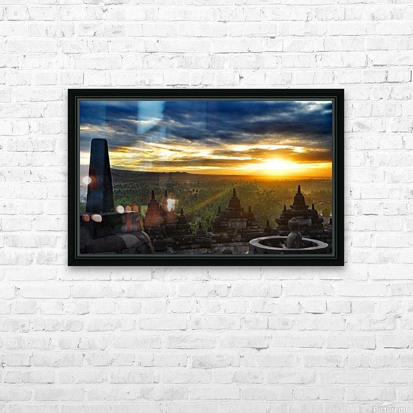 indonesia java landscape borobudur HD Sublimation Metal print with Decorating Float Frame (BOX)