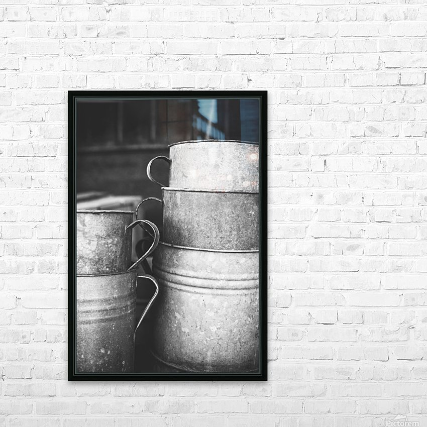 Stacked HD Sublimation Metal print with Decorating Float Frame (BOX)