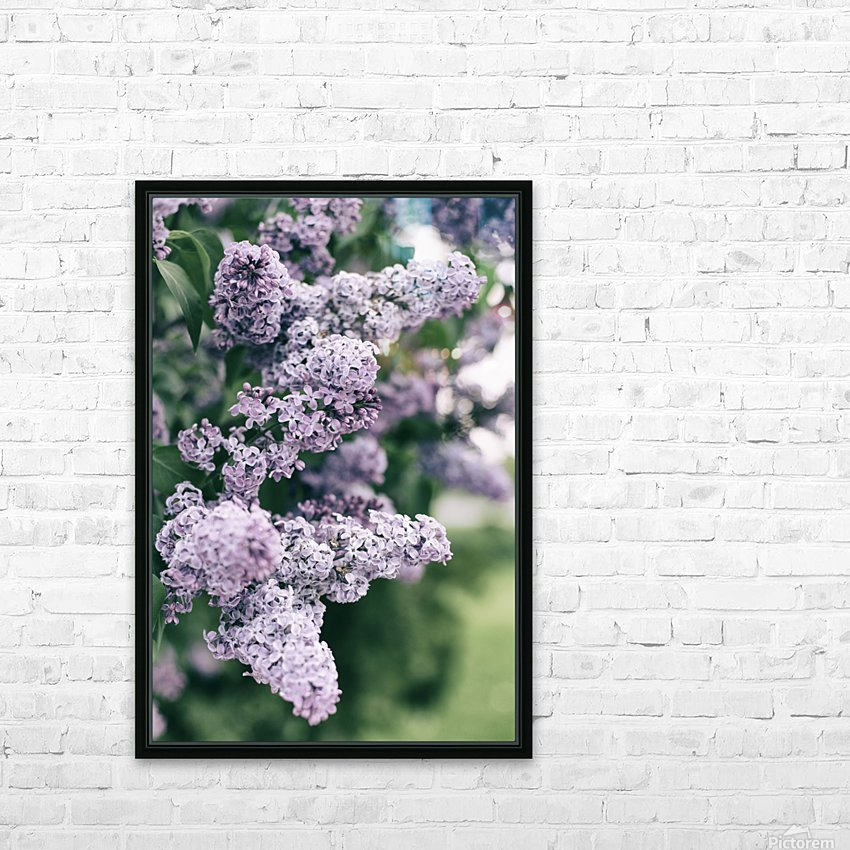 Lilacs in Spring HD Sublimation Metal print with Decorating Float Frame (BOX)