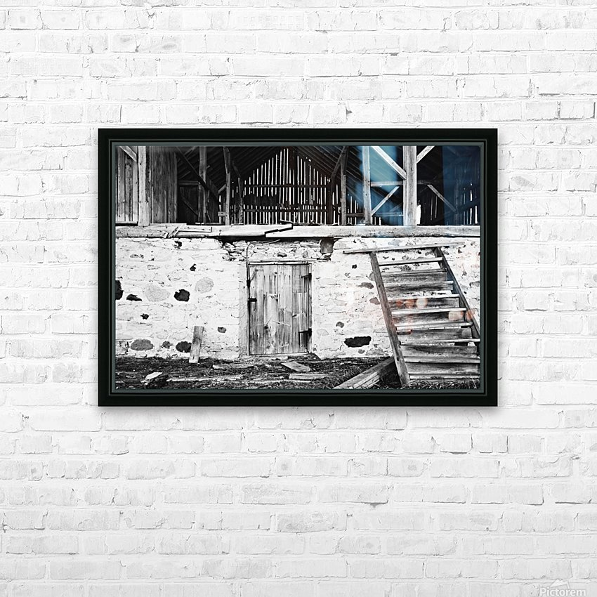 Barn Steps HD Sublimation Metal print with Decorating Float Frame (BOX)