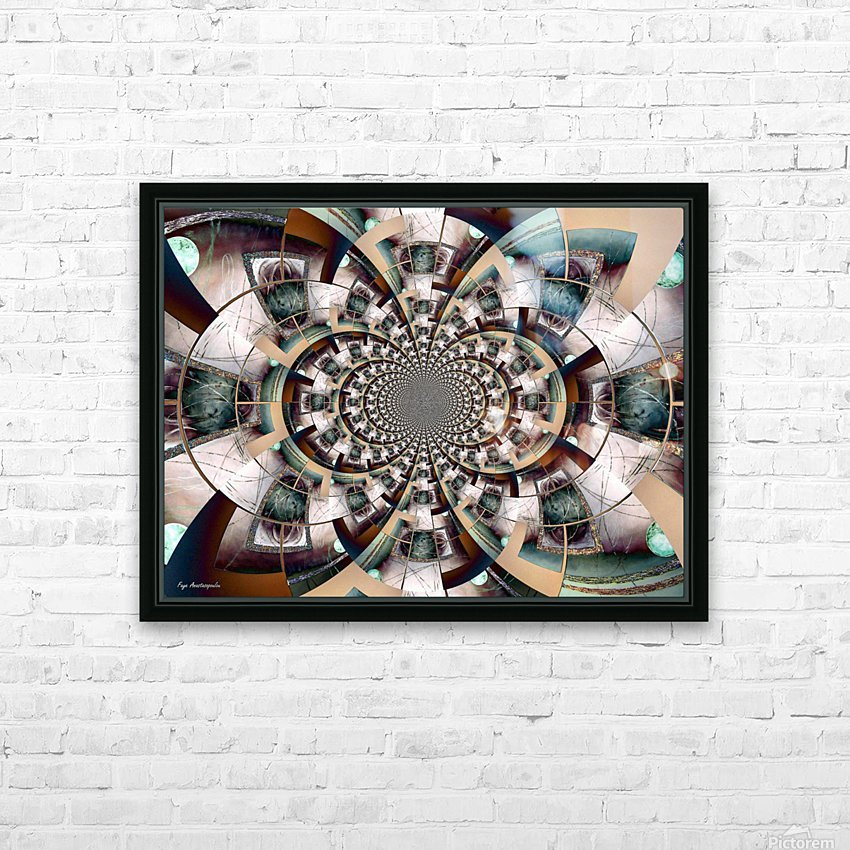 Graphic Ornamental Colorful HD Sublimation Metal print with Decorating Float Frame (BOX)
