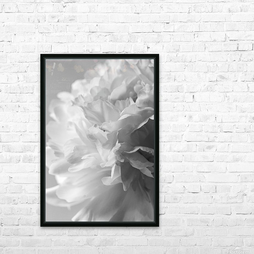 Softness in Black & White HD Sublimation Metal print with Decorating Float Frame (BOX)