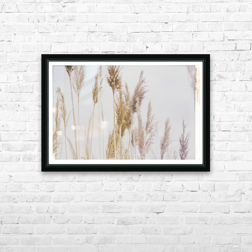 Tall Grass HD Sublimation Metal print with Decorating Float Frame (BOX)