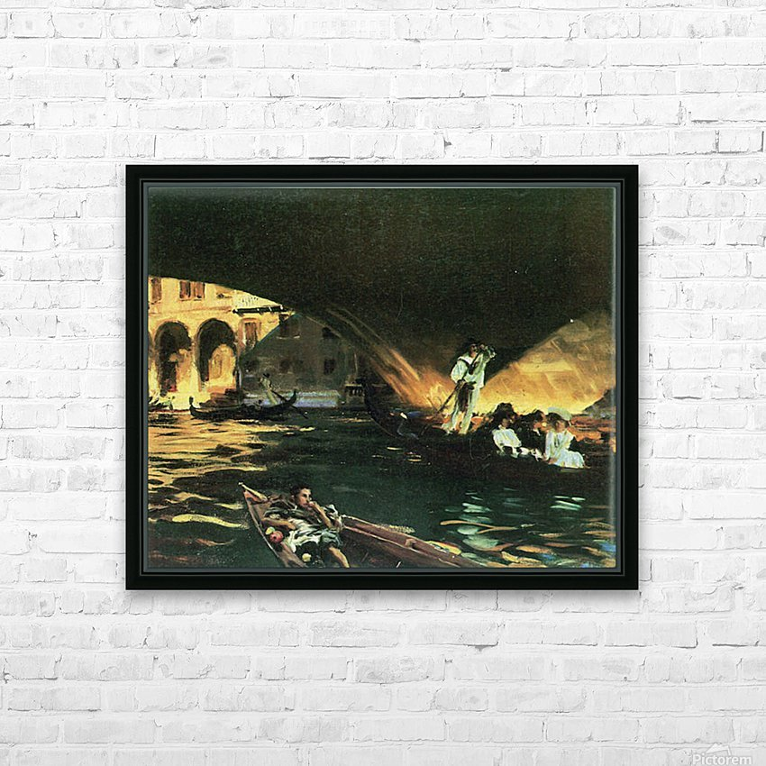 Rialto by John Singer Sargent HD Sublimation Metal print with Decorating Float Frame (BOX)