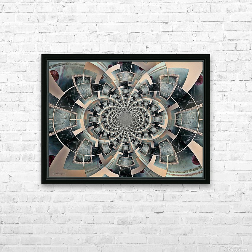 Graphic Ornamental Silver HD Sublimation Metal print with Decorating Float Frame (BOX)