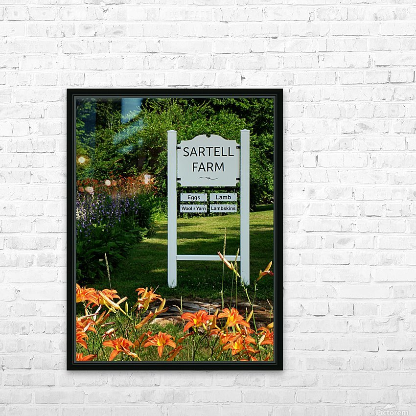 New Hampshire Farm HD Sublimation Metal print with Decorating Float Frame (BOX)