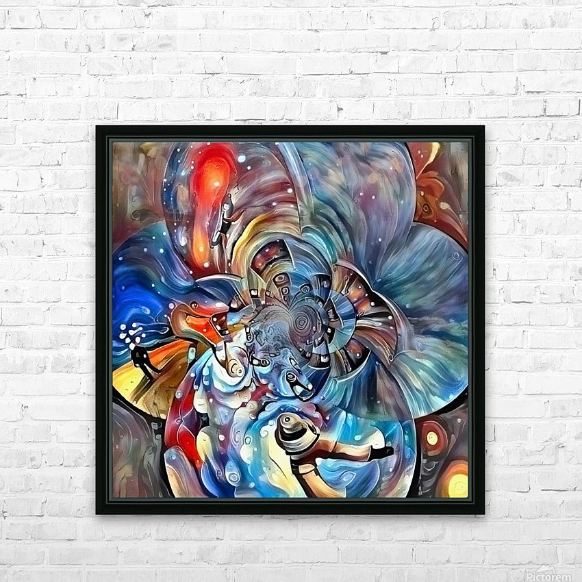 Space Magic HD Sublimation Metal print with Decorating Float Frame (BOX)