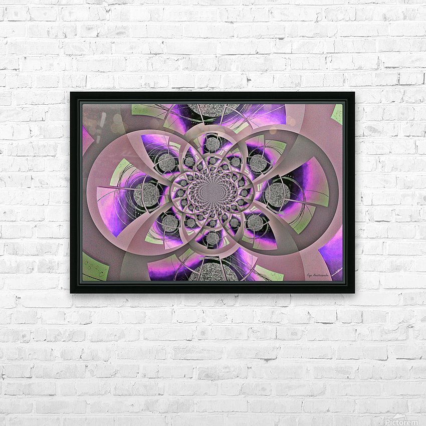 Mirror Infinity Lilac HD Sublimation Metal print with Decorating Float Frame (BOX)