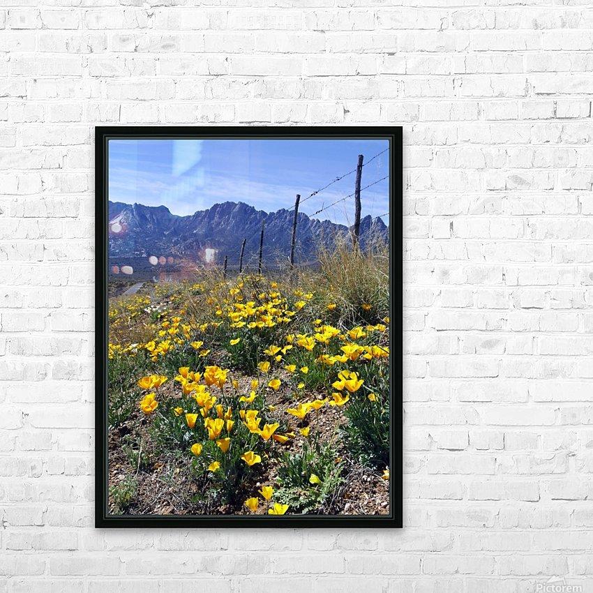 April at Aquirre Springs HD sublimation métal imprimé avec décoration flotteur cadre (boîte)