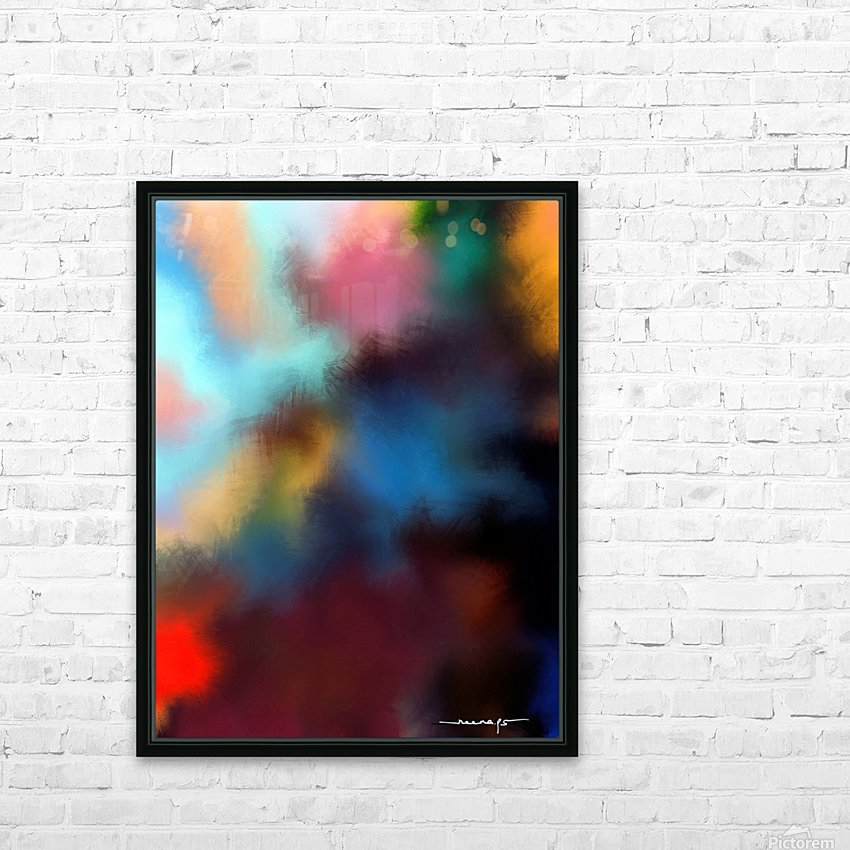 Color Burst - Breathe HD Sublimation Metal print with Decorating Float Frame (BOX)