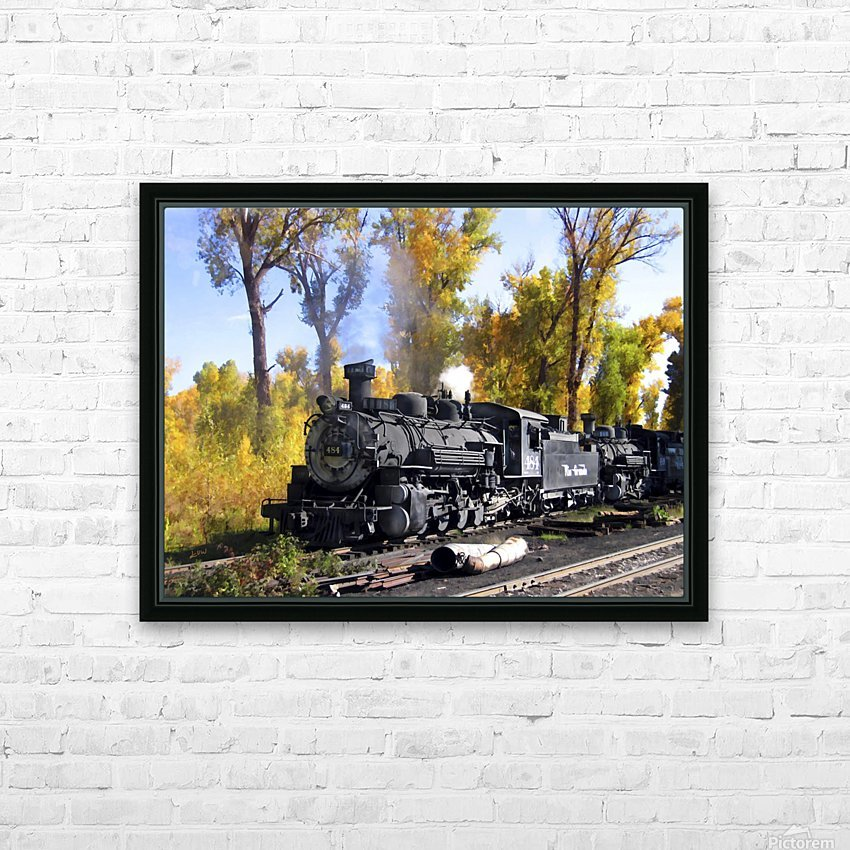Cumbres and Toltec Railroad HD Sublimation Metal print with Decorating Float Frame (BOX)