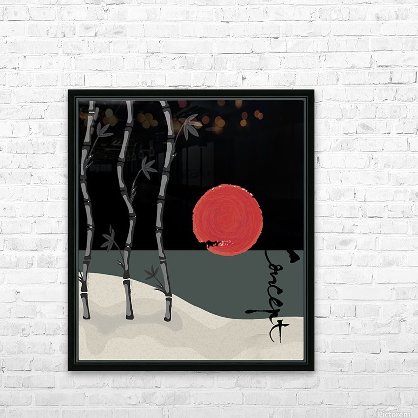 Japanese Concept 01A HD Sublimation Metal print with Decorating Float Frame (BOX)