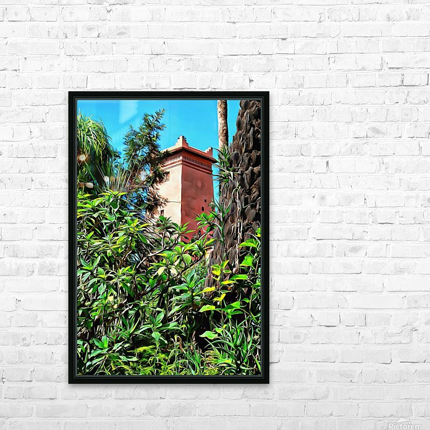 Tower At Jardin Majorelle Marrakech HD Sublimation Metal print with Decorating Float Frame (BOX)