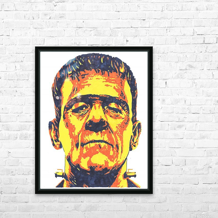 Frankenstein  HD Sublimation Metal print with Decorating Float Frame (BOX)