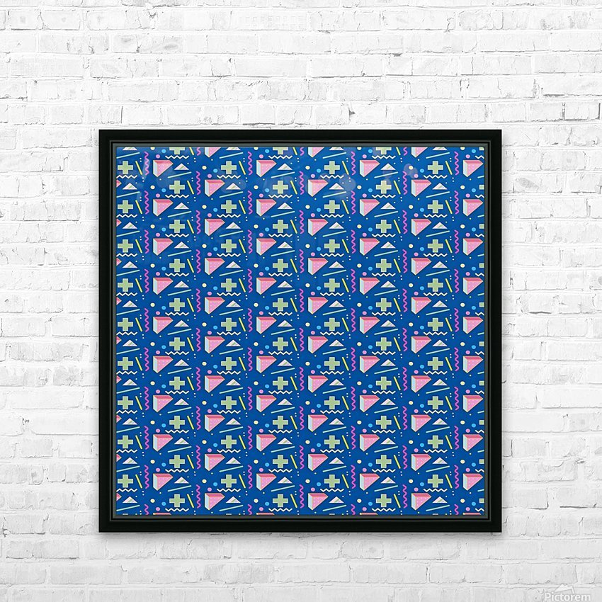 memphis pattern HD Sublimation Metal print with Decorating Float Frame (BOX)