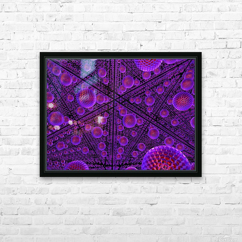spheres combs structure regulation HD Sublimation Metal print with Decorating Float Frame (BOX)