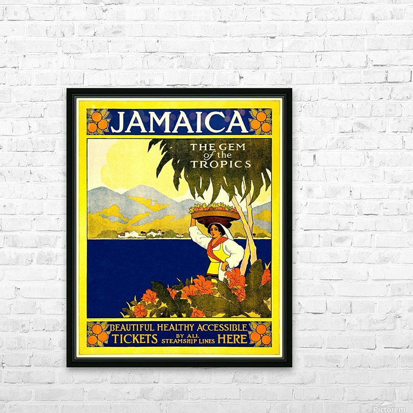 vintage retro poster travel HD Sublimation Metal print with Decorating Float Frame (BOX)