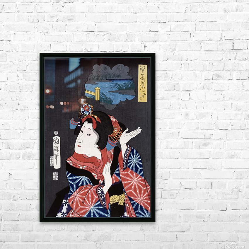 japanese maiden young woman female HD Sublimation Metal print with Decorating Float Frame (BOX)