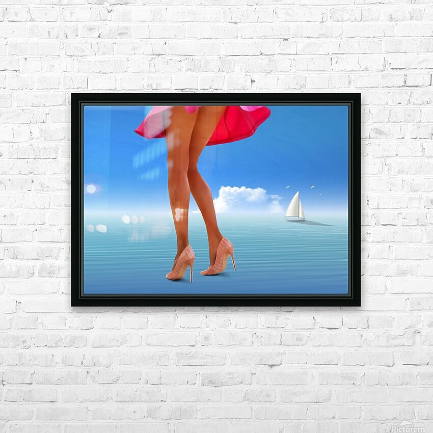 Sail HD Sublimation Metal print with Decorating Float Frame (BOX)