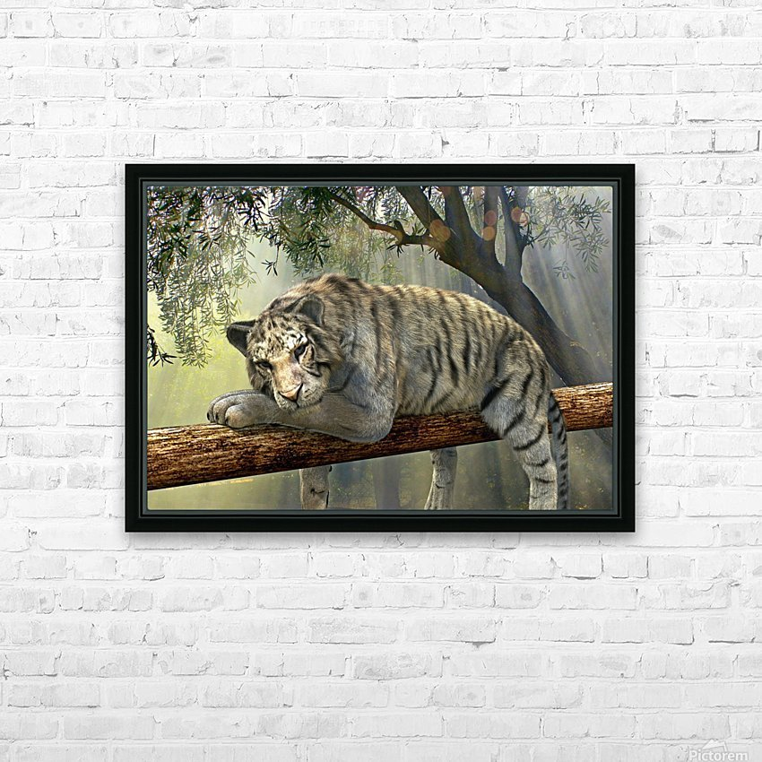 tiger animal jungle rainforest HD Sublimation Metal print with Decorating Float Frame (BOX)