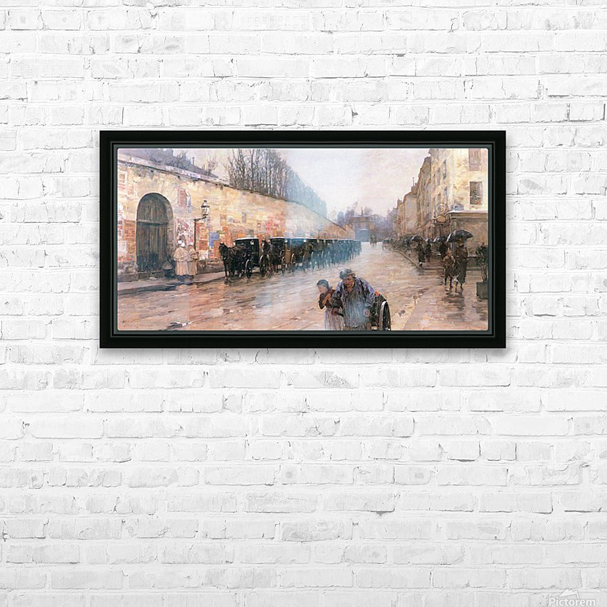 Rue Bonaparte by Hassam HD Sublimation Metal print with Decorating Float Frame (BOX)