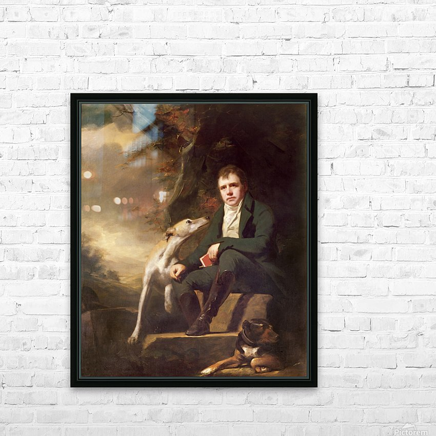 Sir Walter Scott HD Sublimation Metal print with Decorating Float Frame (BOX)