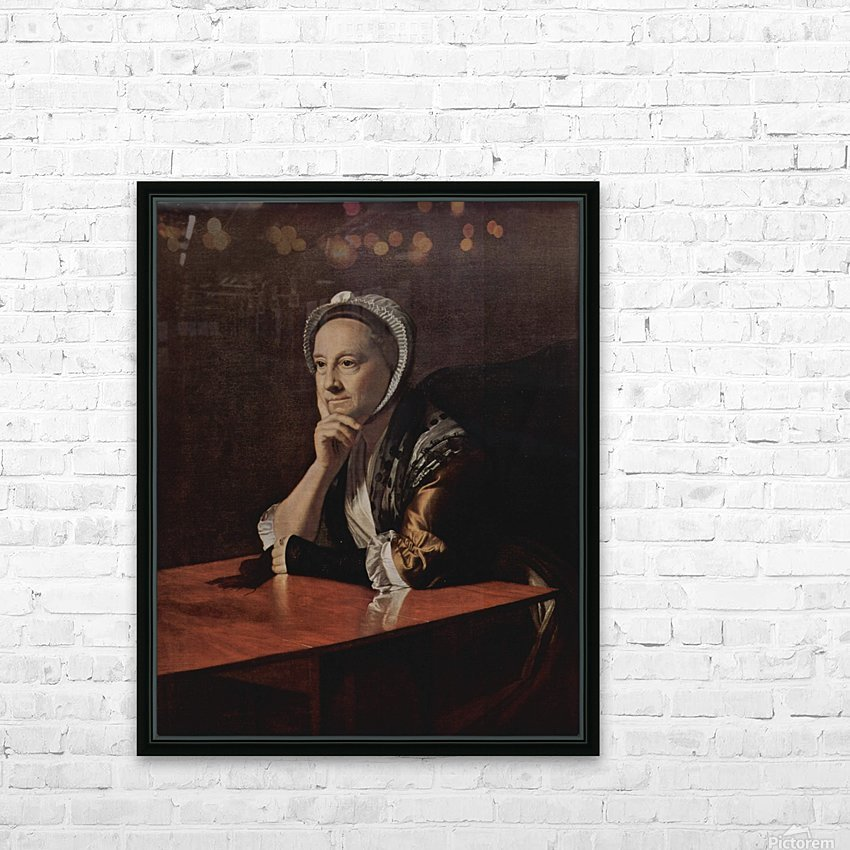 An old lady HD Sublimation Metal print with Decorating Float Frame (BOX)