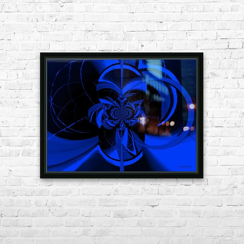 Hypnotic Sapphire HD Sublimation Metal print with Decorating Float Frame (BOX)
