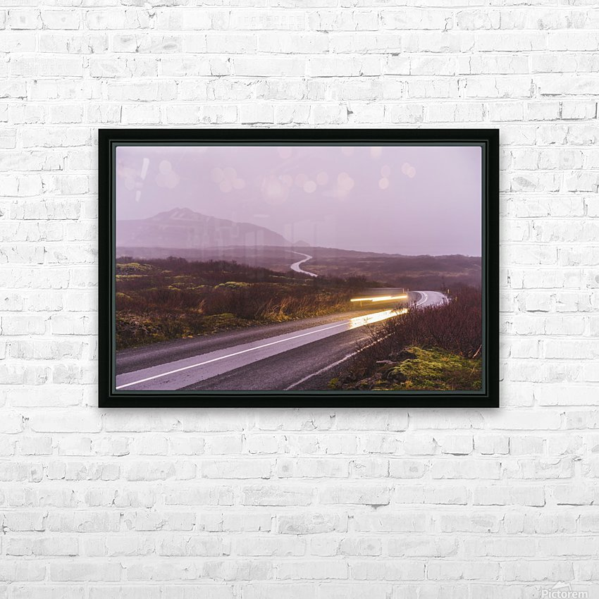 Sunset during overcast rainy day in iceland HD Sublimation Metal print with Decorating Float Frame (BOX)