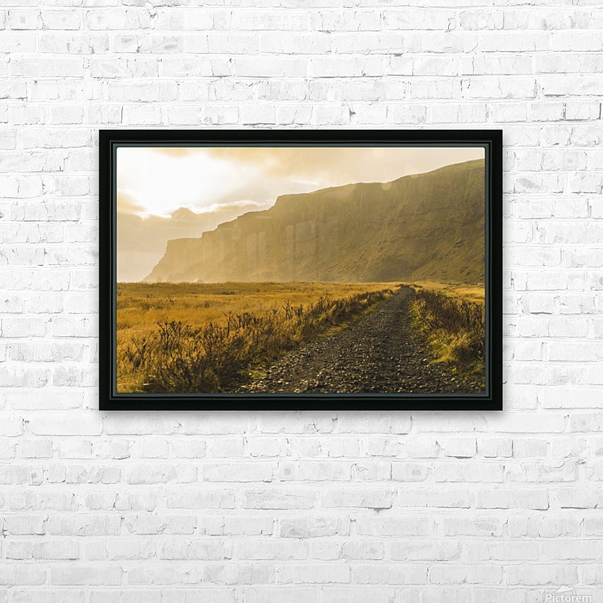 Icelandic sunset in Vik Iceland HD Sublimation Metal print with Decorating Float Frame (BOX)