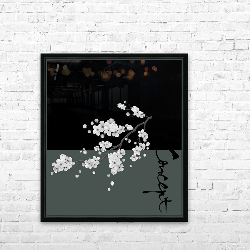 Japanese Concept 02A HD Sublimation Metal print with Decorating Float Frame (BOX)