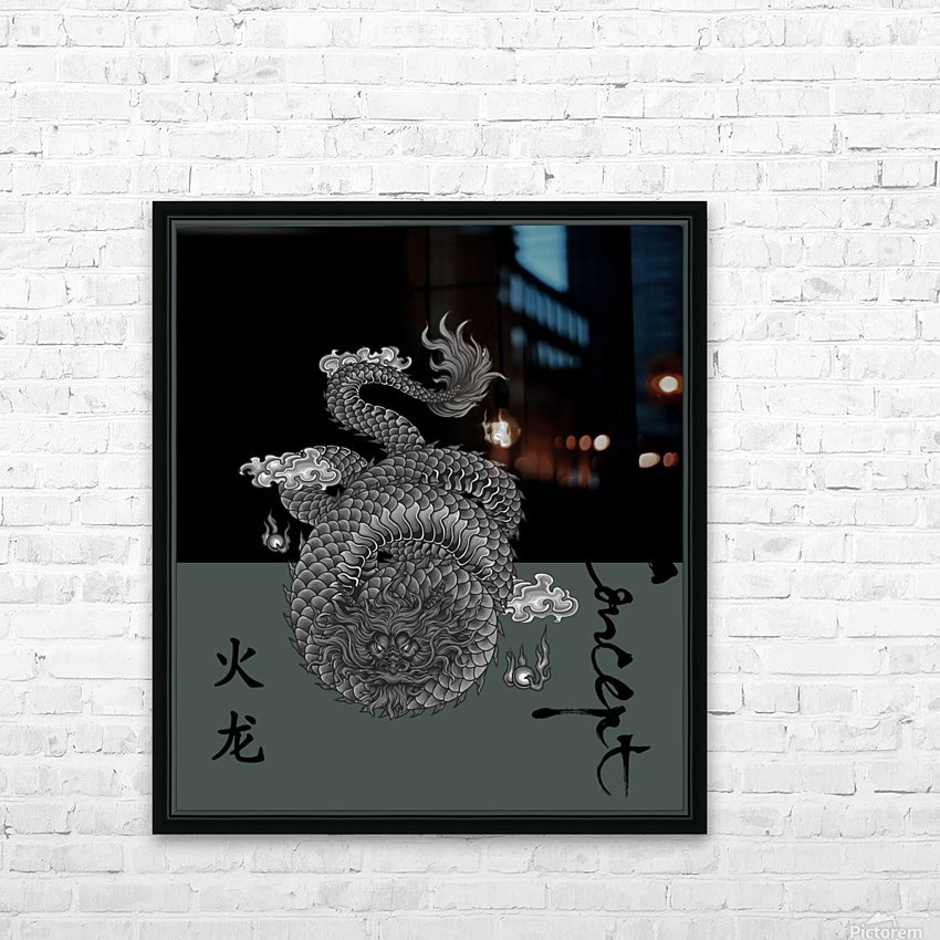 Chinese Concept 03A HD Sublimation Metal print with Decorating Float Frame (BOX)