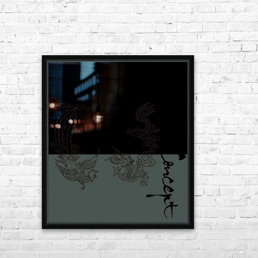 Chinese Concept 05A HD Sublimation Metal print with Decorating Float Frame (BOX)