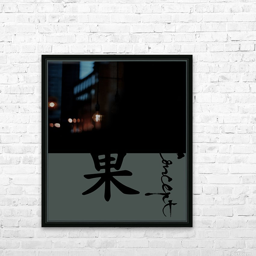 Chinese Concept 06A HD Sublimation Metal print with Decorating Float Frame (BOX)