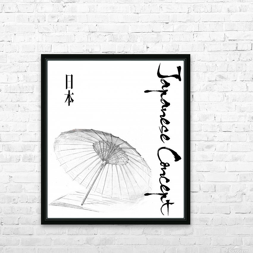 Japanese Concept 03A HD Sublimation Metal print with Decorating Float Frame (BOX)