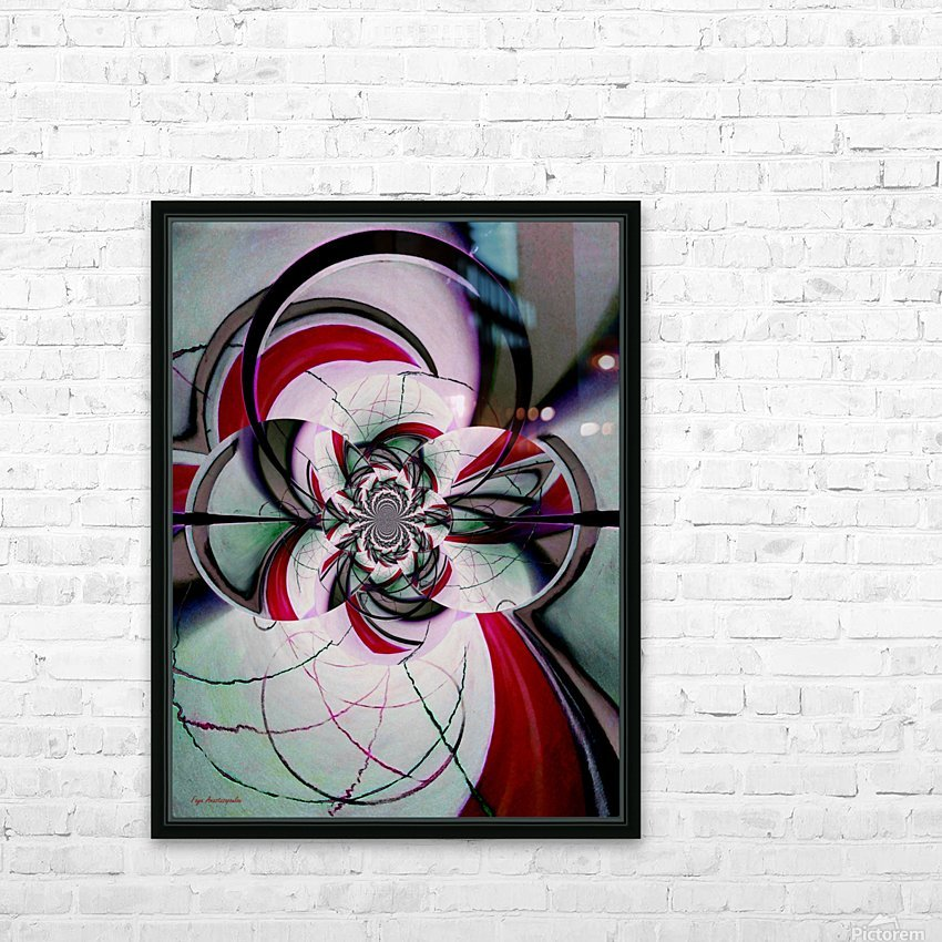 Broken Symmetry Red HD Sublimation Metal print with Decorating Float Frame (BOX)