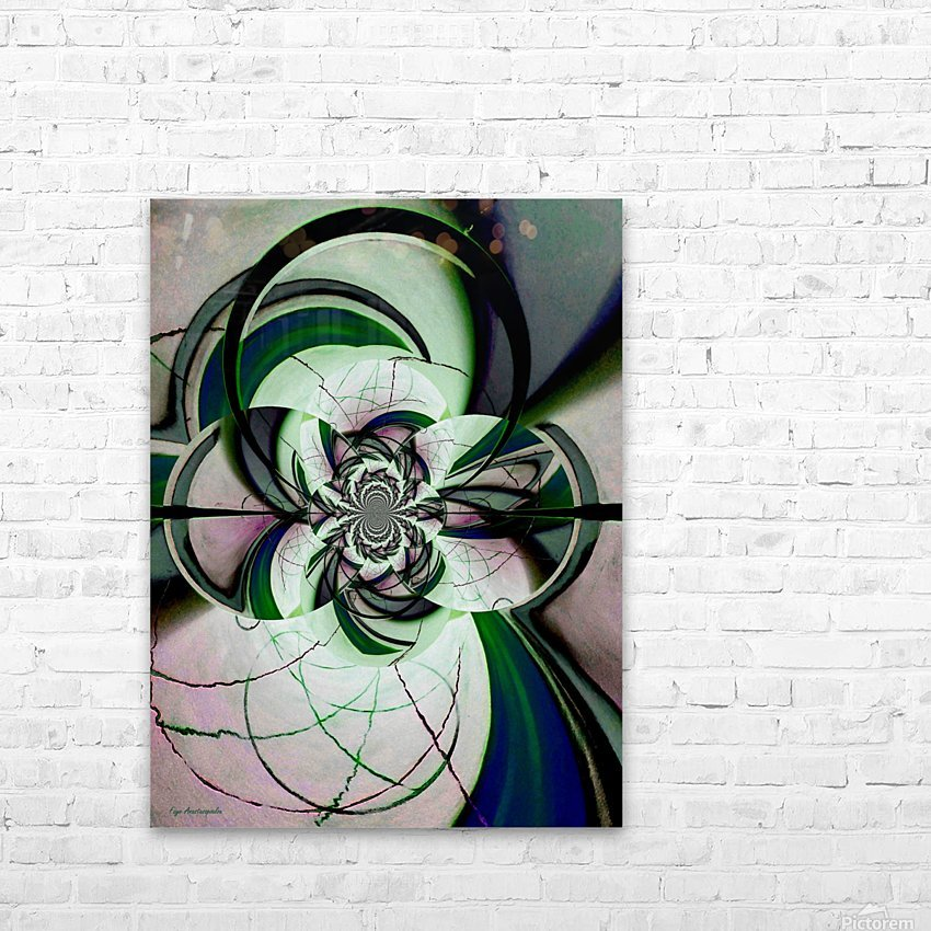 Broken Symmetry Teal HD Sublimation Metal print with Decorating Float Frame (BOX)