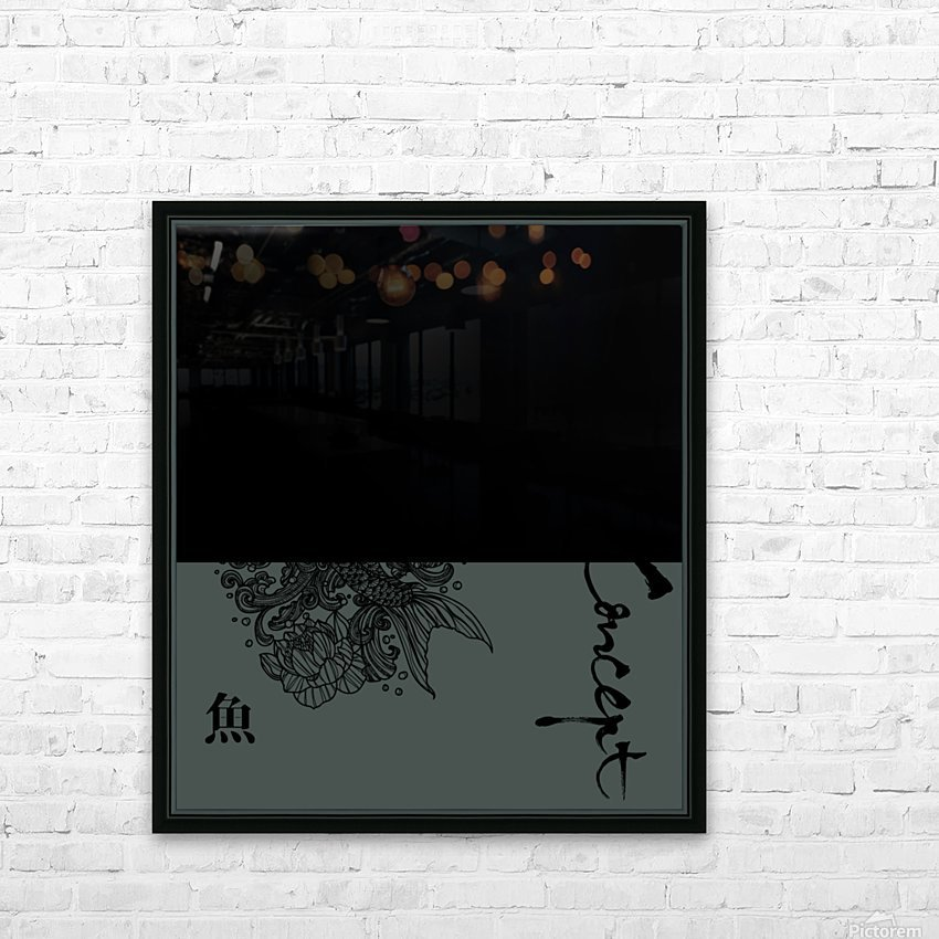 Japanese Concept 05A HD Sublimation Metal print with Decorating Float Frame (BOX)