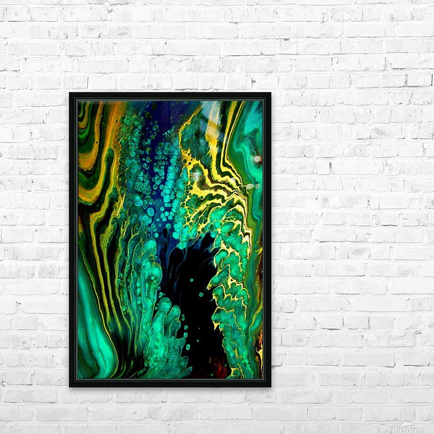 Earth Frequencies HD Sublimation Metal print with Decorating Float Frame (BOX)