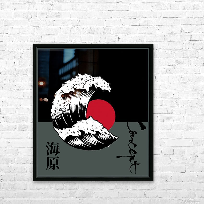 Japanese Concept 06A HD Sublimation Metal print with Decorating Float Frame (BOX)