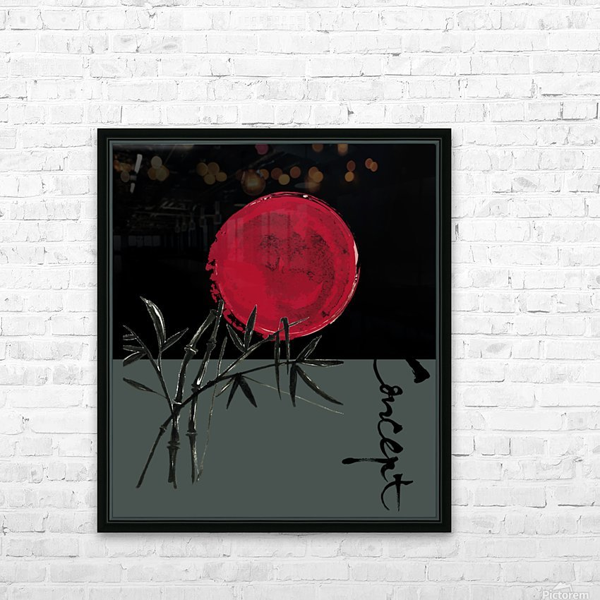 Japanese Concept 08A HD Sublimation Metal print with Decorating Float Frame (BOX)