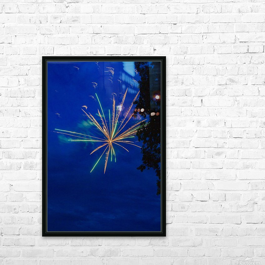 Fireworks 2019 8 HD Sublimation Metal print with Decorating Float Frame (BOX)