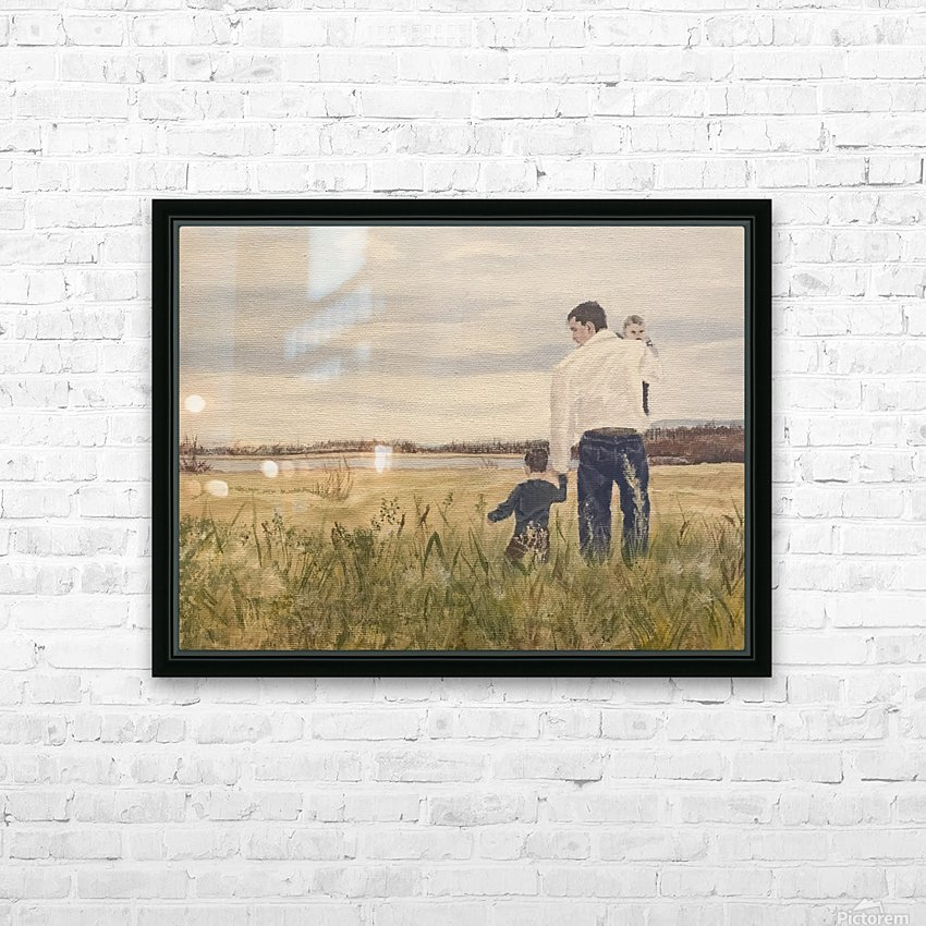 Dads day HD Sublimation Metal print with Decorating Float Frame (BOX)
