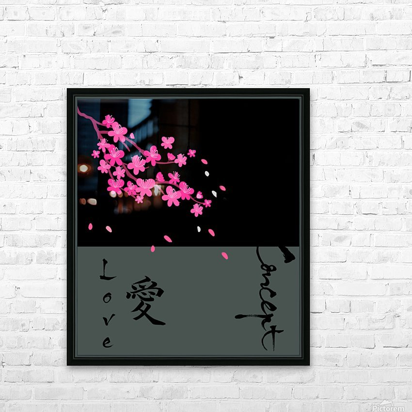 Japanese Concept 07A HD Sublimation Metal print with Decorating Float Frame (BOX)